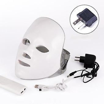 7 Colors Led -facial Mask, Photon Therapy, Anti Acne, Wrinkle Removal, Skin
