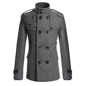 Men's Mao Wool Overcoat Long Suit Woolen Windbreaker Mens Coat