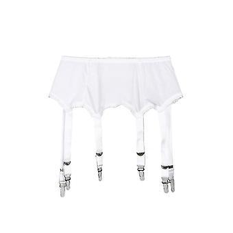 Boucles métalliques Straps Garter Belt Sexy Lingerie Suspender Solid Elastic