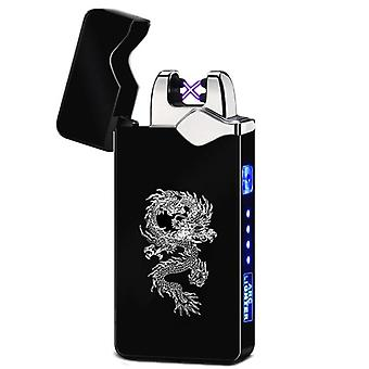 Windproof Dual Arc Lighter, Plasma Rechargeable, Usb Cigarette Electric Metal