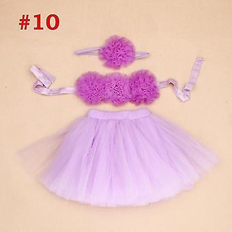 סלסולים מפוארים כולל חצאית סרט ראש יילוד אביזרי צילום יום הולדת תינוק טוטוס