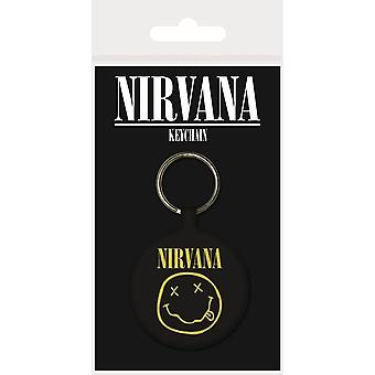 Nirvana Smiley Woven Keyring