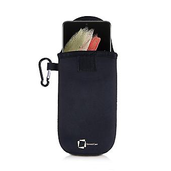 InventCase Neoprene Pouch Case Cover with Carabiner for Samsung Galaxy S21 Ultra - Noir