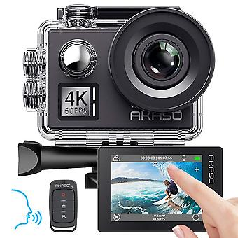 Akaso v50 elite 4k/60fps touch screen wifi actie camera spraakbesturing eis 40m waterdichte camera adj
