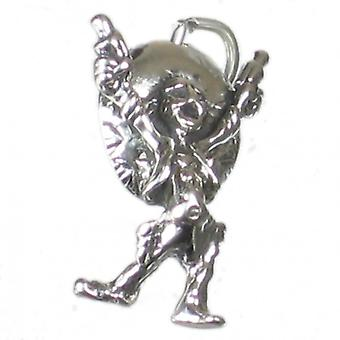 Mexican Man Sterling Silver Charm .925 X 1 Mexicans Charms - 2690