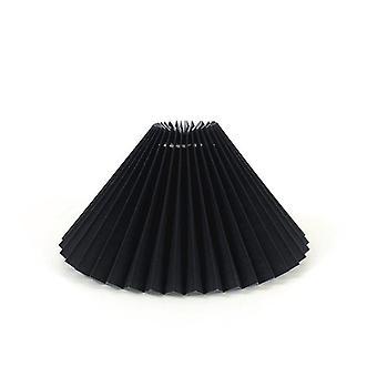Abat-jour plissé table Textile Chimney Desk E27 Led Stand for Bedroom Bedside