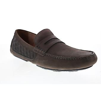 Andrew Marc Metropolis  Mens Brown Synthetic Penny Loafers & Slip Ons Shoes