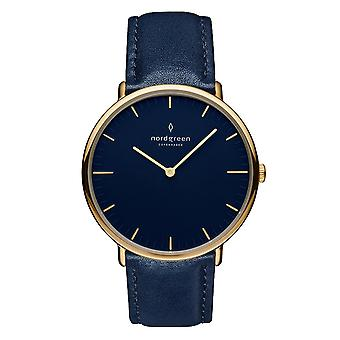 Nordgreen Unisex Native Leather Gold 40mm Watch NR40GOLENANA