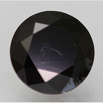 Cert 0,59 Karat Fancy Musta Pyöreä Brilliant Parannettu Luonnollinen Timantti 5,22mm
