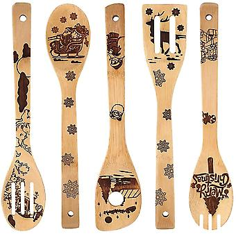 Non-stick Spatula Shovel Wooden Halloween Utensils Set Cookware Cooking Tool