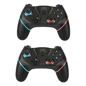 Stuff Certified® 2-Pack Gaming Controller for Nintendo Switch - NS Bluetooth Gamepad with Vibration Black