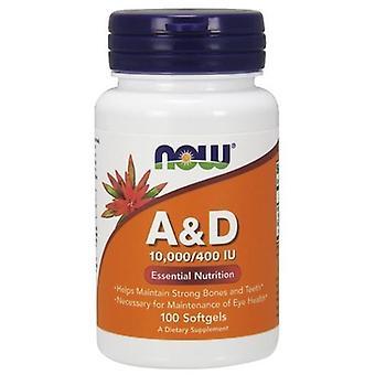 Now Foods vitamine A & D 10000/400 Iu 100 capsules molles