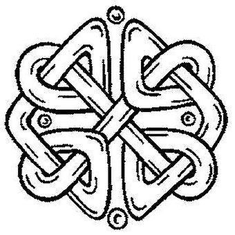 Motivo celtico 1 timbro montato sul legno
