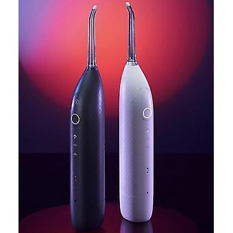 Rechargeable cordless 3d diamond air flosser and oral irrigator for pristine oral hygiene with 9 cleaning modes and 2 gum massage modes