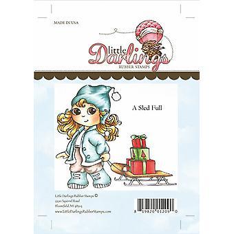 Little Darlings Stamp - A Sled Full