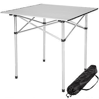 tectake Campingbord Aluminium 70x70x70cm foldbar - grå