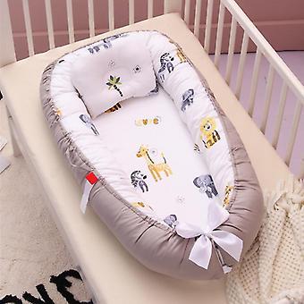 Bärbar baby spjälsäng,'s bomull vagga, vikning nyfödda resande barnsängar, randiga