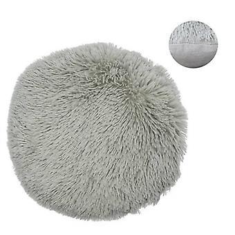 pillow Shaggy round 38 cm textile grey