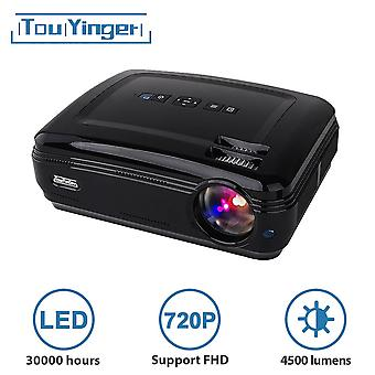 4500 lumen 1280 * 768 LED-gegevens tonen HD TV Projector