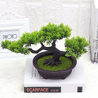 צמח מלאכותי בברכה אורן פלסטיק מזויף צמחים ירוקים 2pcs