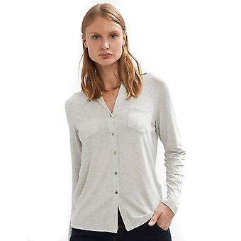 Shuuk Soft-Knit Button-Down -paita kahdella etutaskulla & lyhytpaitainen kaulus