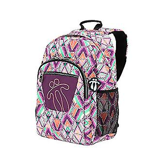 Totto MA04ECO021-1810N-3SE School backpack adaptable to trolleys, watercolors, multicolor