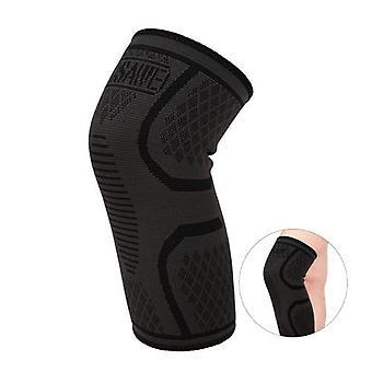 WOSAWE 1pc弾性圧縮膝ブレースサイクリングランニングアウトドアスポーツフィットネスフィットネスニースリーブパッドサポートガード