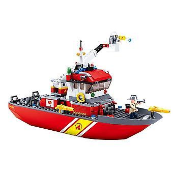 429PCS byggesten kompatible brandbil båd dreng legetøj byggesten legetøj| Blokke