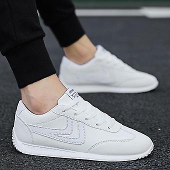 Män Läder Sneakers, Sport vulkaniserade skor