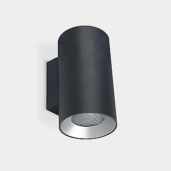LEDS C4 Cosmos Seinäkiinnin kiinnitys à ̧ 168 Kaksipäästöinen Ulko-LED Alas Valo Suuri Kaupunkien harmaa IP55 IK 4000K