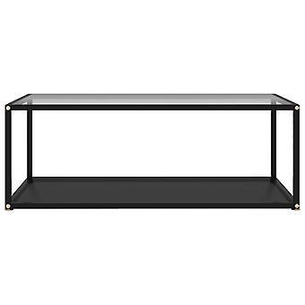 vidaXL transparent et noir verre trempé 100x50x35 cm