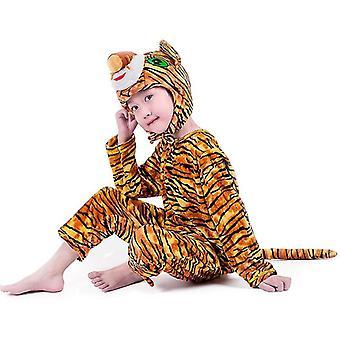 Xl (140cm) tiger vzor dlhý cosplay oblek kostým pódium oblečenie sviatočné oblečenie cai452