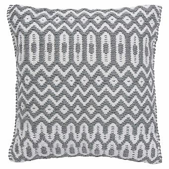 Halsey Geometric Outdoor Cushion In Grey