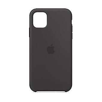 Custodia in silicone Apple (per iPhone 11) - Nero
