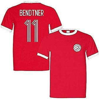 Sporting empire nicklas bendtner 11 denmark legend ringer retro t-shirt red/white