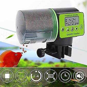 Automatisk Fiskemater Digital Fisketank Akvarium Elektrisk Plast TimerMater Mat fôring Dispenser Verktøy Fiskemater