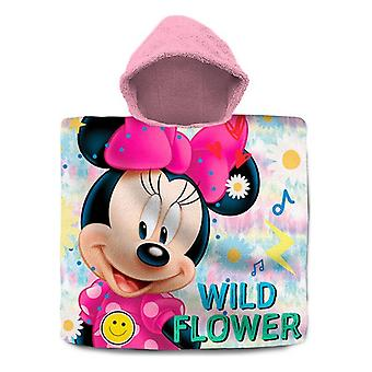 Poncho-Towel with Hood Minnie Mouse Cotton (60 x 120 cm)