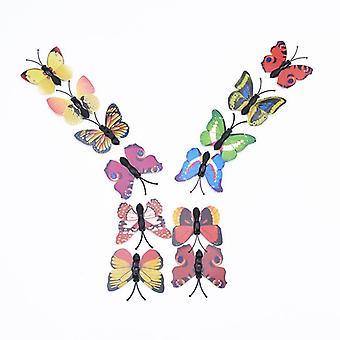 3d Plastic Butterfly Decorative Flowers