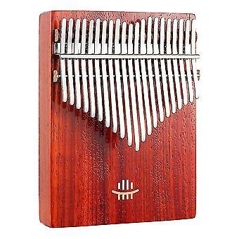 Kalimba Tommel Piano 17 Keys Bærbart Musikkinstrument For Nybegynnere Rød