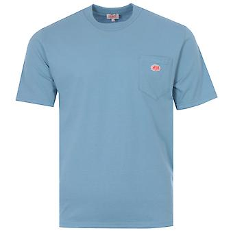 Armor Lux Heritage Organic Cotton Pocket T-Shirt - Sky Blue