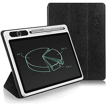 LCD Schreibtafel 10.1 Zoll, Elektronisches Business Maltafel mit Schutztasche und Metallstift,