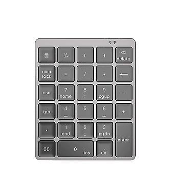 Alumiiniseos 28 näppäintä Langaton Bluetooth-numeronäppäimistö, jossa on enemmän toimintonäppäimiä 140mAh Mini Numpad
