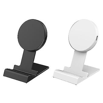 15W phone wireless charger, multifunctional bluetooth headset phone folding wireless charger(White)