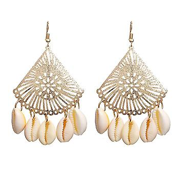 Oorbellen Shell Sint-Jakobsschelp Gouden Hanger Oorringen Voor Bruiloft