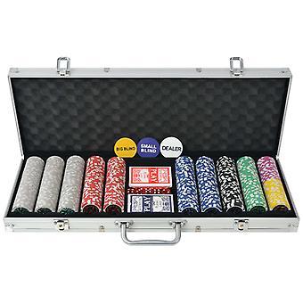 vidaXL pokerisarja 500 laserlastulla alumiinilla