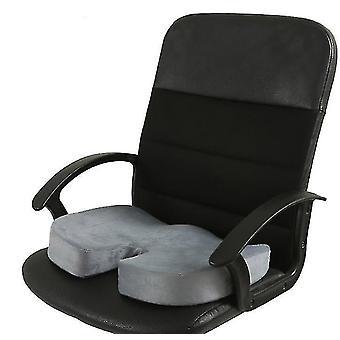 Memory Foam zitkussen voor autostoelen, thuiskantoor en Reiskussen (Grijs)