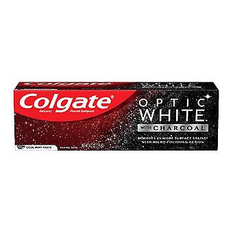 Colgate optic white teeth whitening charcoal toothpaste, cool mint, 4.2 oz