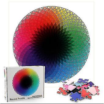 Skladačky kruhová dúhová skladačka jedinečný tvar skladačky kúsky dospelých deti darček darček darček #4774