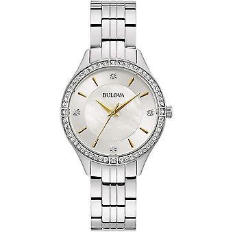 بولوفا 96L282 المرأة الصلب سوار ساعة اليد