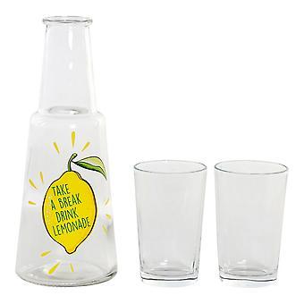 glass flaske DKD hjem dekor gjennomsiktig (800 ml)